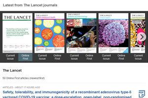 The Lancet journals - browse concept (view in new window)